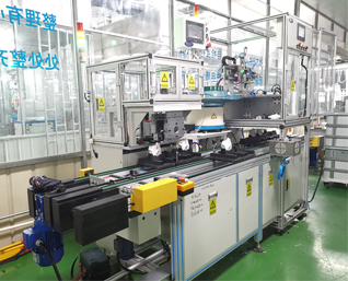 Automatic conduction plate assembly line